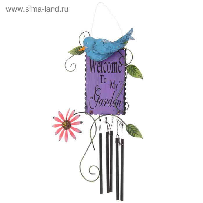 "Подвесной декор ""Музыка ветра"" птичка, микс"