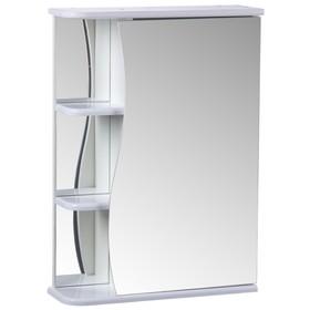 "Зеркало-шкаф ""Тура"", с тремя полками, 500 х 154 х 700 мм"