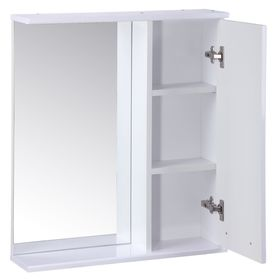 "Зеркало-шкаф ""Квадро"", 60 х 15,4 х 70 см, белый глянец - фото 4651558"