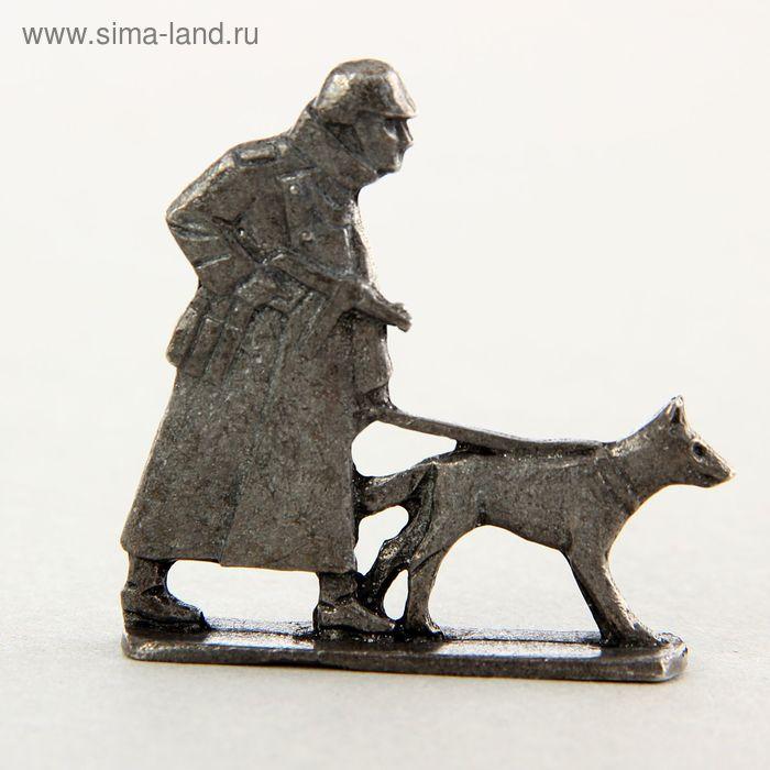 """Оловянный солдатик """"Жандарм с собакой"""""""
