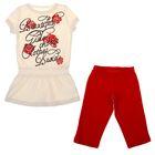 Комплект для девочки (туника+бриджи), рост 122 см (7 лет), цвет красный/экрю Л475_Д