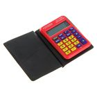 Калькулятор карманный 8-разрядный LC-110NRDCFS, 58*87*12мм, питание от батарейки, красный