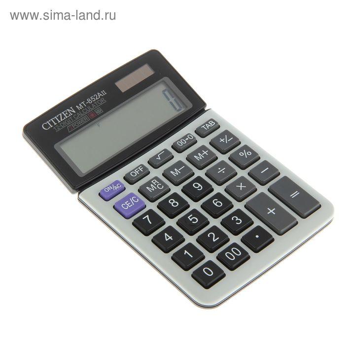 Калькулятор настольный 12-разрядный MT-852AII, 104*161*18мм, двойное питание, черный
