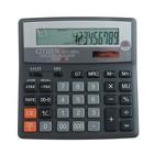 Калькулятор настольный 16-разрядный SDC-660II, 156*159*31мм, двойное питание, черный