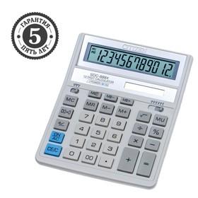 Калькулятор настольный 12-разрядный SDC-888XWH, 158*203*31мм, двойное питание, белый Ош
