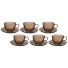 """Набор чайный на 6 персон """"Броунз"""", 12 предметов: 6 чашек 238 мл, 6 блюдец"""