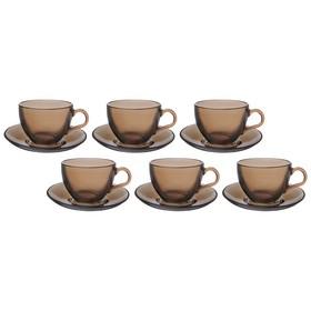 Набор чайный «Броунз», на 6 персон, 12 предметов: 6 чашек 238 мл, 6 блюдец, d=13,5 см