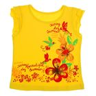 Футболка для девочки, рост 122 см, цвет лимонный, принт микс Л171