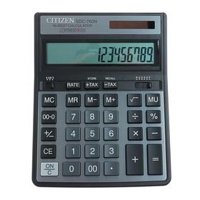 Калькулятор настольный 16-разрядный SDC-760N, 158*204*31мм, двойное питание, черный Ош