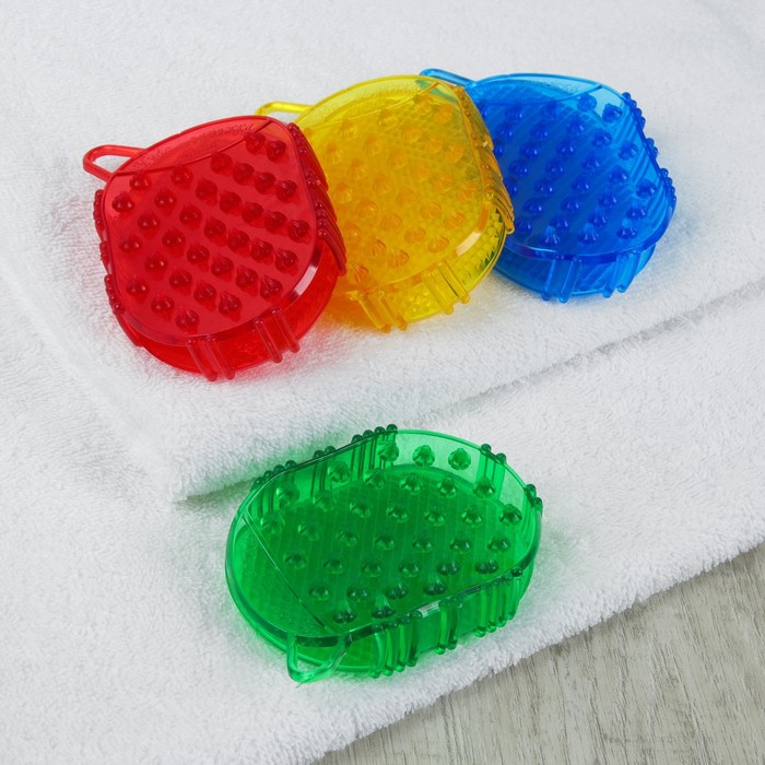 Массажёр антицеллюлитный «Чудо-варежка», мини, с подвесом, цвет МИКС