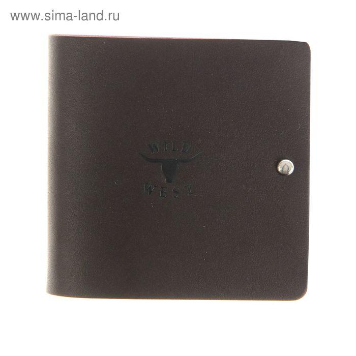 Портмоне, 1 отдел, 1 карман, коричневый матовый