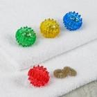 Массажер «Массажный шарик» для интенсивного воздействия в комплекте с двумя кольцевыми пружинами, цвета МИКС