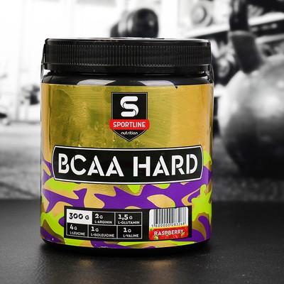 Аминокислоты SportLine BCAA Hard 4:1:1, малина, 300 г