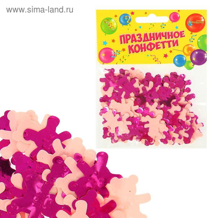 """Конфетти """"Мишки"""" 14 грамм, цвет розовый"""