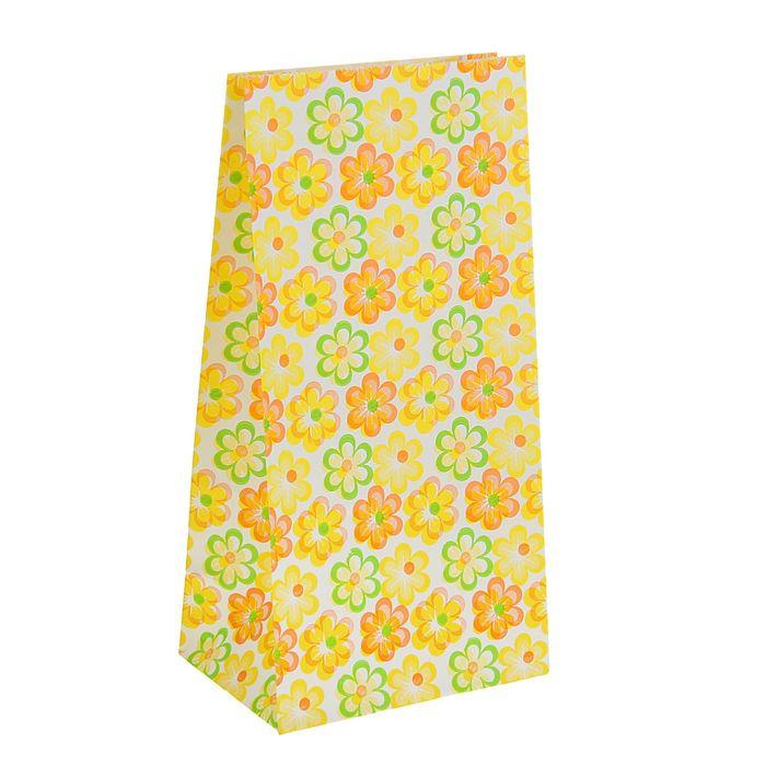 """Пакет фасовочный """"Ромашки"""", жёлтый, 9 х 5 х 18 см"""