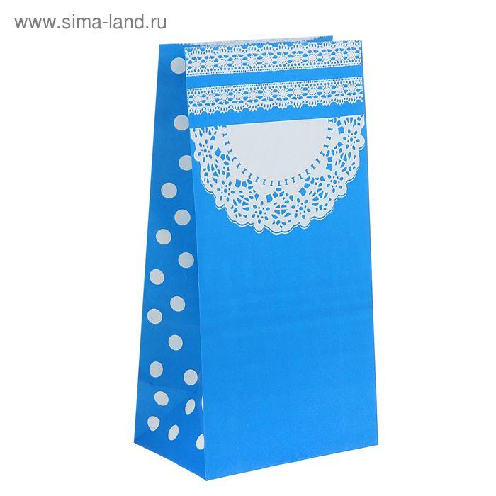 """Пакет фасовочный """"Ажур"""", цвет голубой"""