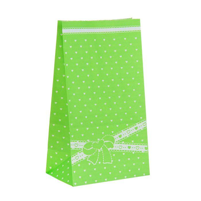 """Пакет фасовочный """"Бантик"""", зелёный, 13 х 8 х 24 см"""