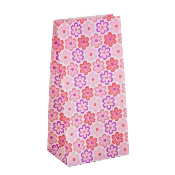 """Пакет фасовочный """"Ромашки"""", розовый, 9 х 5 х 18 см"""