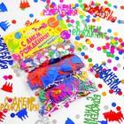 "Конфетти ""С днем рождения""тортик, набор 3 пакета"