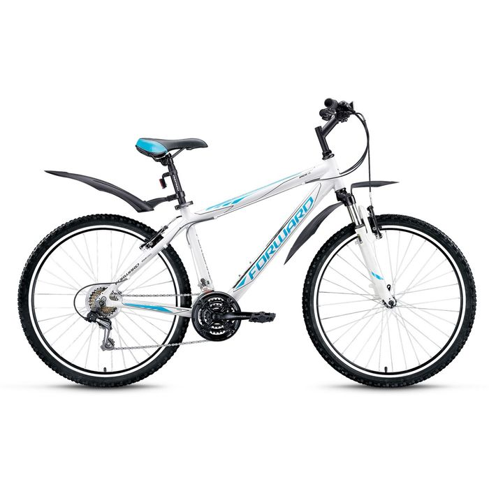 """Велосипед 26"""" Forward Apache 1.0, 2016, цвет белый, размер 17"""""""