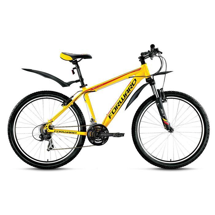 """Велосипед 26"""" Forward Next 1.0, 2016, цвет желтый матовый, размер 17"""""""