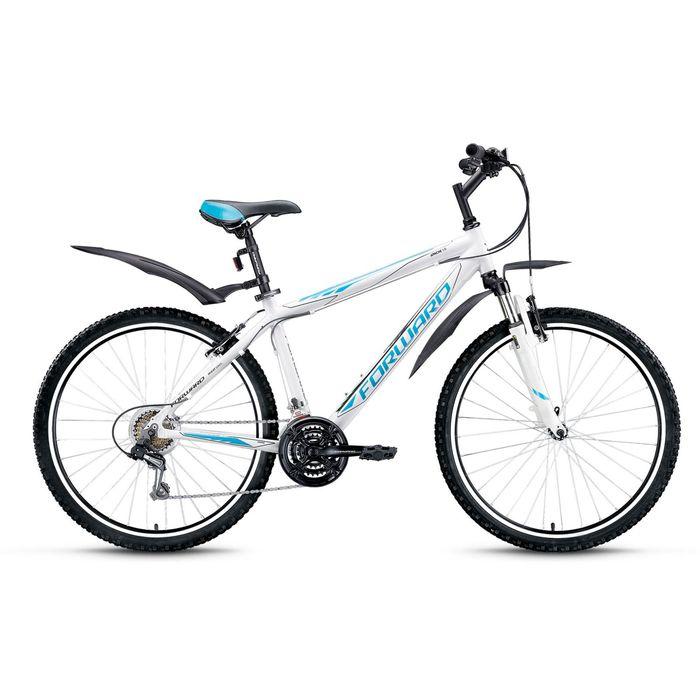 """Велосипед 26"""" Forward Apache 1.0, 2016, цвет белый, размер 15"""""""