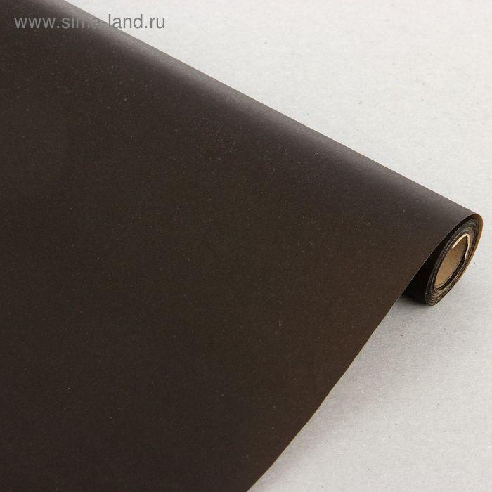 Бумага упаковочная крафт черный 0,7 x 10 м