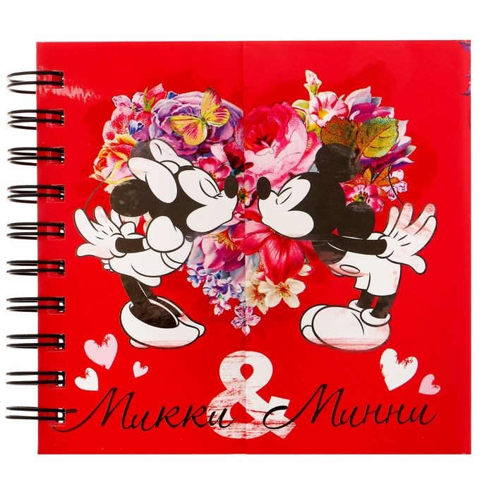 "Блокнот на магнитном заклепе ""Микки и Минни"", Микки Маус и друзья, 60 листов"