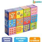 Кубики «Арифметика» с оживающей картинкой, 12 элементов