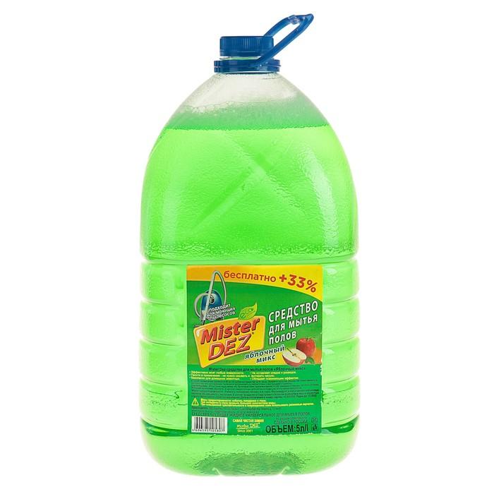 """Средство  для мытья пола Mister Dez """"Яблочный микс"""", 5 л"""