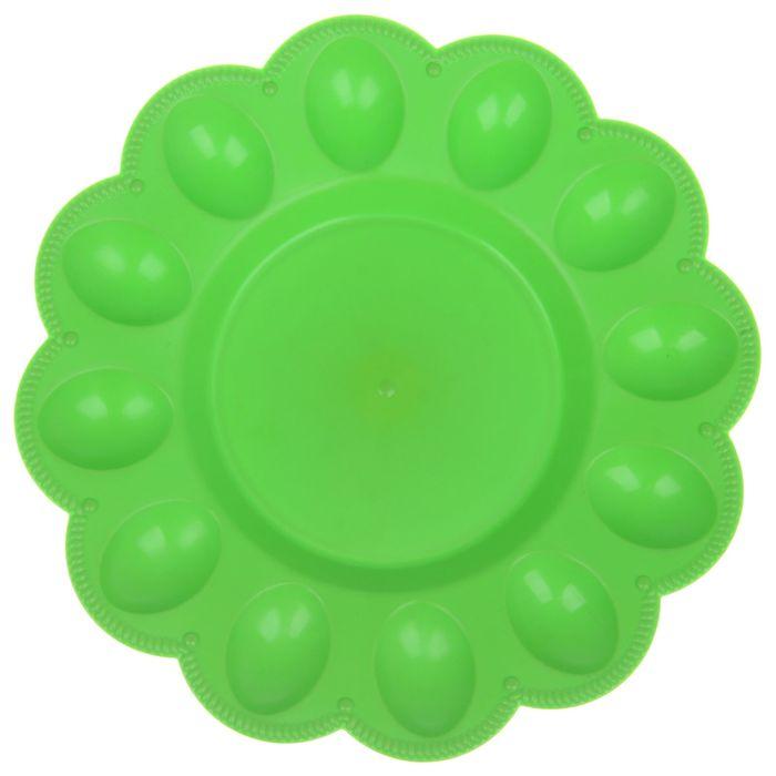 Тарелка для яиц, цвет салатовый
