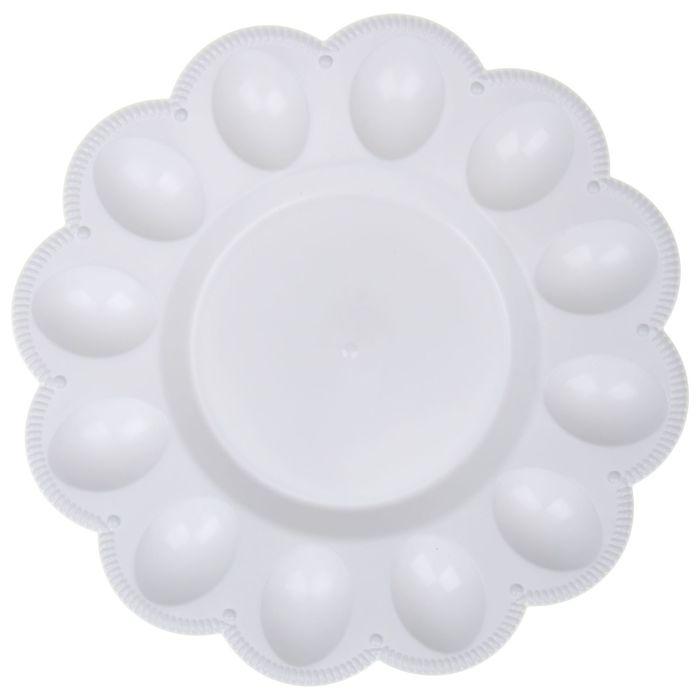 Тарелка для яиц, цвет белый