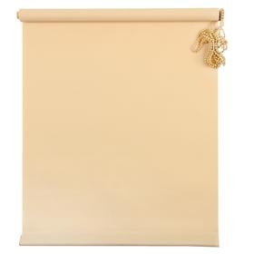 Штора рулонная «MJ», размер 100х160 см, цвет песочный