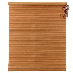 Штора рулонная «Зебрано», 160 х 160 см, цвет шоколад