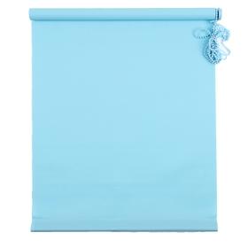 Штора рулонная «MJ», 120 х 160 см, цвет голубой