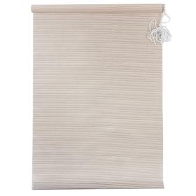 Штора рулонная «Зебрано», 140 х 160 см, цвет белый