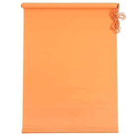 Штора рулонная «MJ», 50 х 160 см, цвет оранжевый