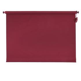 Штора рулонная «MJ», 140 х 160 см, цвет бордовый