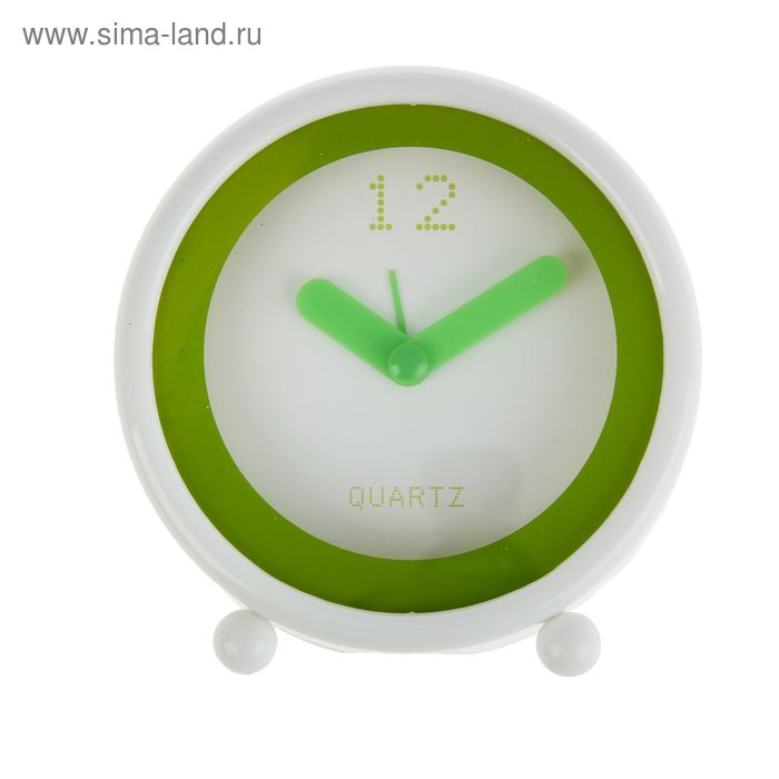 "Будильник СТАРТ ""Зеленый модерн"", 11 см"