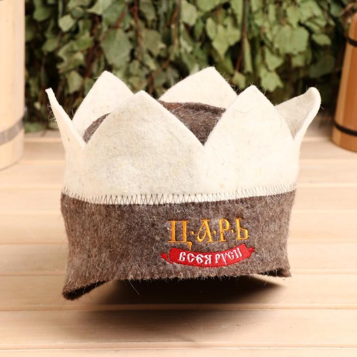 """Банная шапка корона """"Царь всея руси"""""""