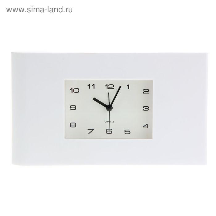 """Будильник СТАРТ """"Белая классика"""" 22,3х12,8х4,4 см"""