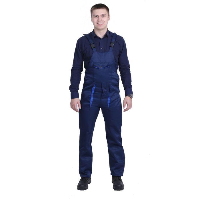 Полукомбинезон, размер 48-50, рост 182-188 см, цвет синий/васильковый