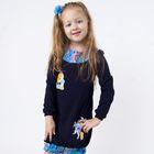 """Платье для девочки """"Конёк-Горбунок"""", рост 98 см, цвет синий"""