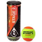 Мяч теннисный Dunlop Stage 2 orange 3B, набор 3 штуки ,фетр