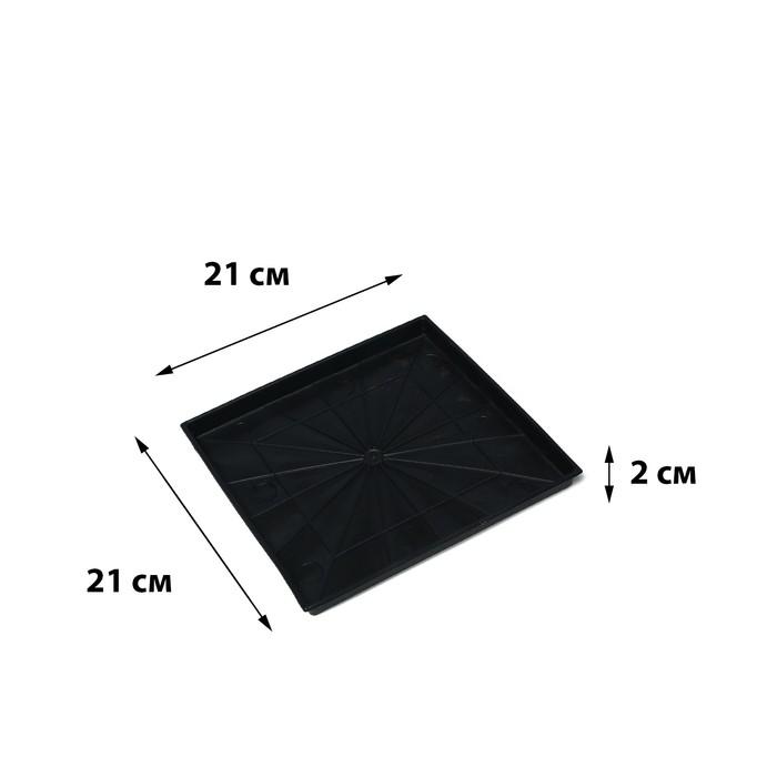 Поддон для рассады, 21 × 21 × 1,7 см