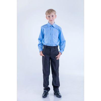 Сорочка для мальчика, рост 170-176 см (37), цвет светло-голубой 181В