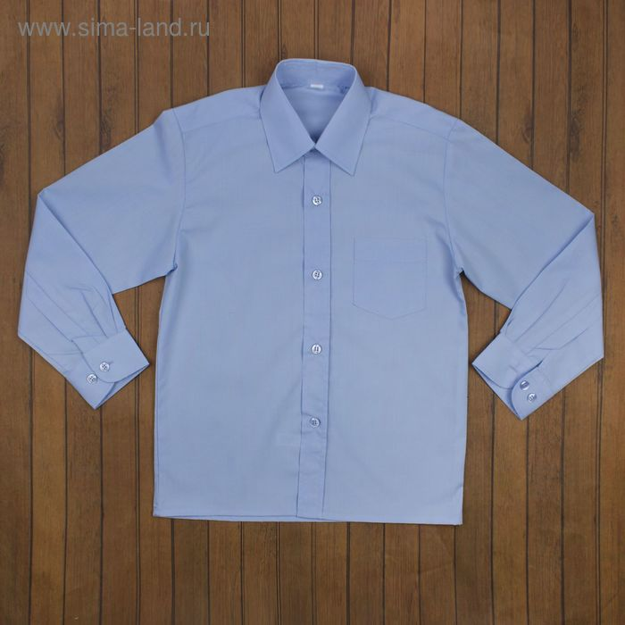 Сорочка для мальчика, рост 158-164 см (36), цвет светло-голубой 181Б-1