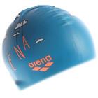 Шапочка для плавания детская ARENA Print Jr, безразмерная, цвет сине-оранжевый