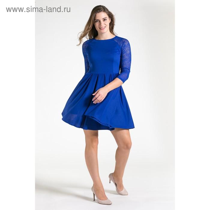 Платье женское 4500, размер 46, рост 164 см, цвет синий