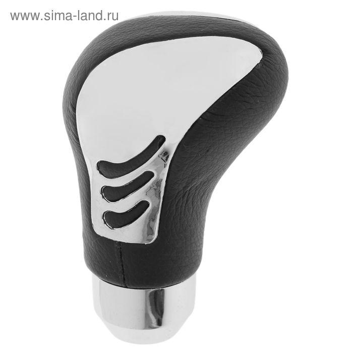 Ручка кулисы КПП Nova Bright FR4001, чёрная, хром